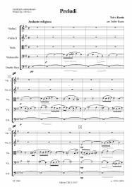 Preludi (Op. 16b No 1) arr. Sulho Ranta