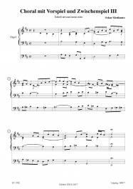 Choral mit Vorspiel und Zwischenspiel III