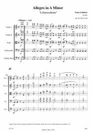 Allegro in A Minor D 947 (arr. for string orchestra by Ira Levin)